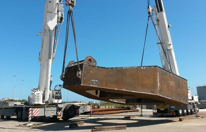 Autogru Demag AC 300 e Ac 100 | sollevamento carpenteria 81 t