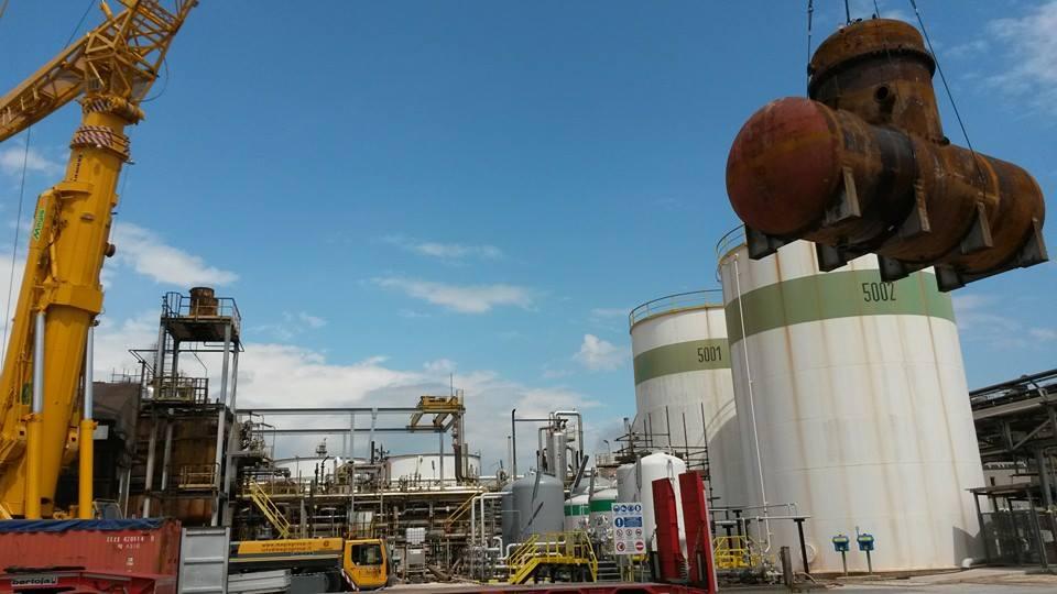 impianti petrolchimici | sostituzione degasatore e pilotini