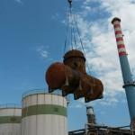 sostituzione degasatore caldaia impianto 1 raffineria ENI Taranto
