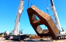 Autogru Demag AC 300 e Ac 100 | sollevamento e ribaltamento carpenteria 81 t