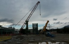 recupero rottame relitto barca Taranto | AC 2800 e LTM 1500