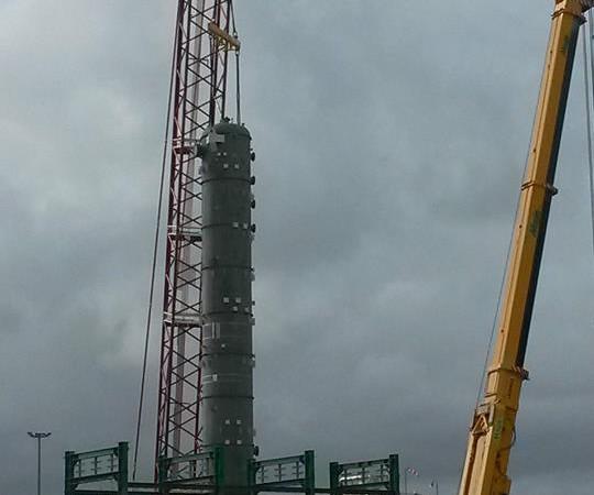 Impianti petrolchimici   colonna di lavaggio amminico centro oli ENI Viggiano