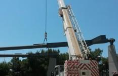 Demag AC80-1 | demolizione struttura metallica a Manduria in Piazza Giovanni XXIII