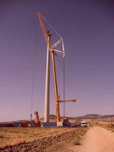 manutenzione impianti eolici | sostituzione aereogeneratore 59 ton