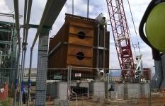 Grandi sollevamenti| caldaia Centro olio ENI Val d'Agri di Viggiano
