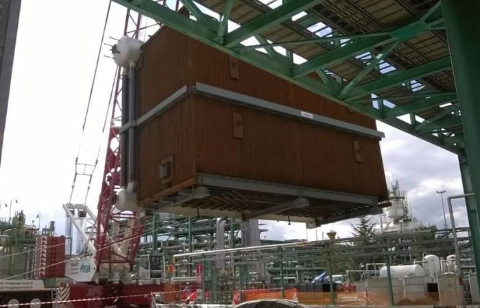 Sollevamento caldaia 110 t | Centro olio ENI Val d'Agri di Viggiano