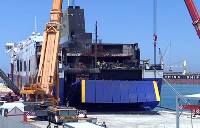 Magis Srl | sollevamento per apertura portellone nave Norman Atlantic